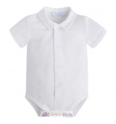 Body m/c cuello camisa Blanco