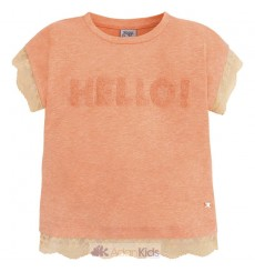 "Camiseta m/c ""hello"" Papaya"