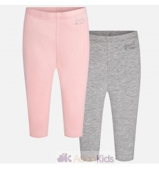Set 2 leggings basicos Pastel