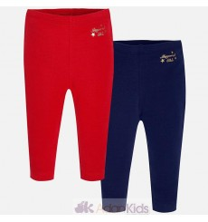Set 2 leggings basicos Rojo