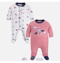 Set 2 pijamas interlock Red