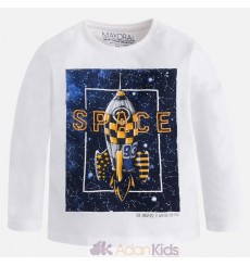 "Camiseta m/l ""space"" Nata"