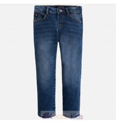 Pantalon tejano knit denim Oscuro