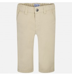 Pantalon chino sarga basico Galleta