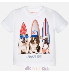 "Camiseta m/c ""surfer dogs"" Blanco"