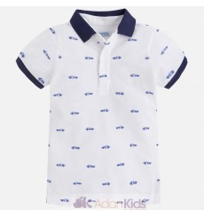 Polo m/c estampado Blanco