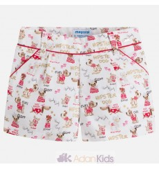 Short otoman estampado Rojo