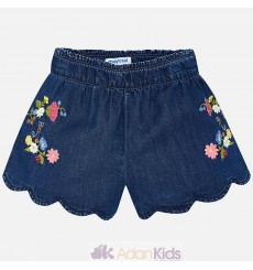 Short tencel bordado Tejano