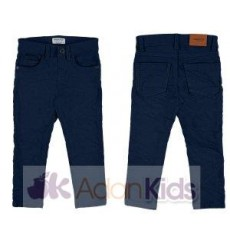 Pantalon sarga slim fit basic Marino