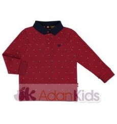 Polo m/l estampado Tinto