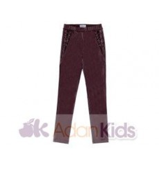 Pantalon largo polipiel Sangria