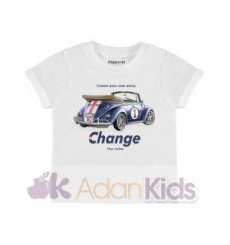 "Camiseta m/c ""car"" Blanco"