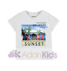 "Camiseta m/c ""sunset"" Blanco"