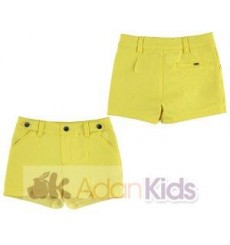 Short saten Amarillo