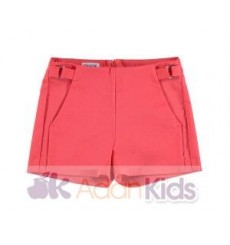 Short saten Coral
