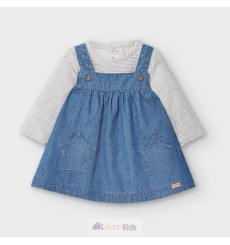 Conj. pichi y camiseta Blue denim Ref. 2860