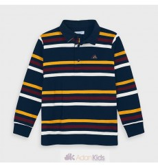 Polo m/l rayas Deep blue Ref. 4132