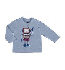 "Camiseta m/l ""play with"" Plomo vig Ref. 2040"