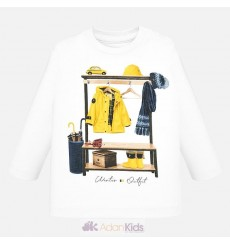 "Camiseta m/l ""little jockey"" Nata"